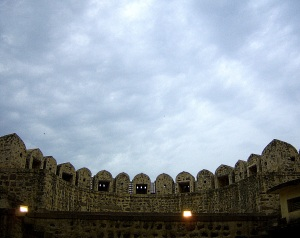 Shot at the Entrance to the Fort