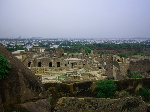 Fort Ruins and Hyderabad City